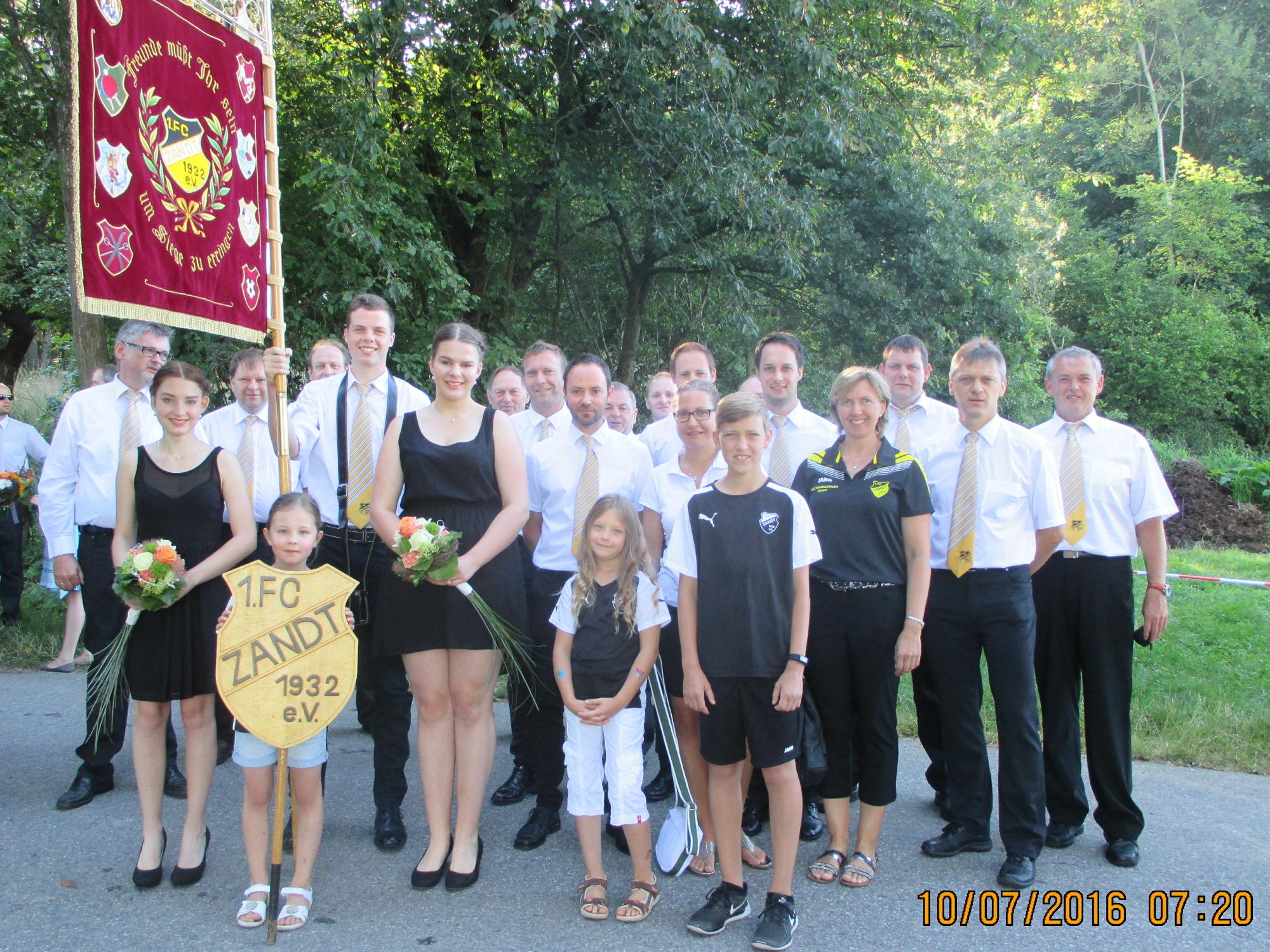 Am Sonntag, den 10.07.2016 besuchte der FC Zandt das 50-jährige Jubiläum der DJK Rattenberg